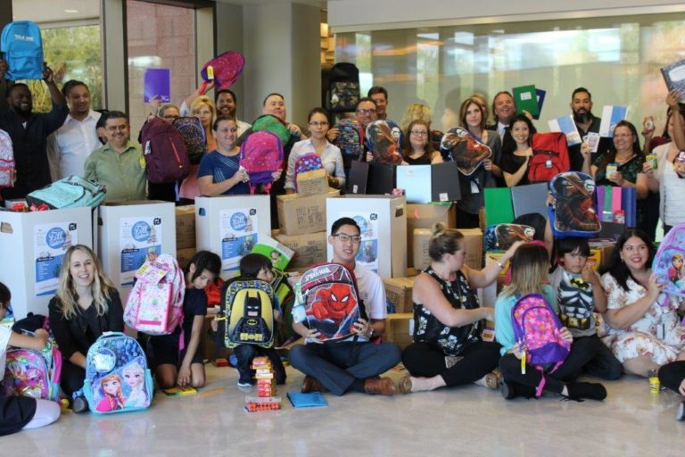 Arrivia, ICE Donates Over 860 Backpacks to A New Leaf